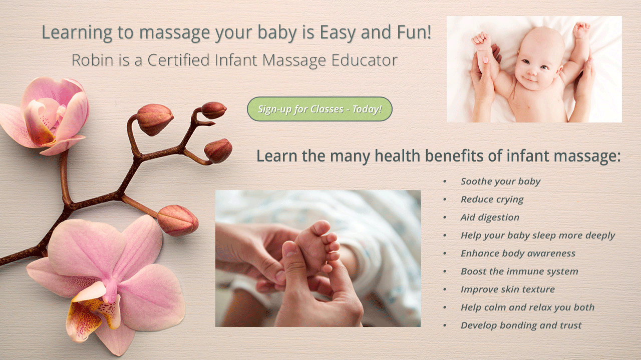 Robin is a Certified Infant Massage Educator